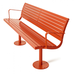 Parco, backed bench