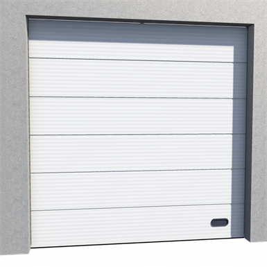 industrial micro grooved door ral 9010 normal lift in slope
