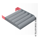 sunbreaker between consoles horizontal installation - azur range
