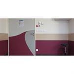 half-height decorative door - bicolour