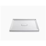 """archer® 48"""" x 48"""" single threshold center drain shower base with removable cover"""