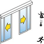 automatische schiebetür (einbruchhemmend rc2/rc3) - 2-flüglig - mit seitenteil - wandmontage - sl/pst-rc