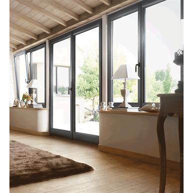 double pvc casement window