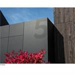"""hpl facade cladding 10mm """"duropal xterior compact - single-sided lacquering"""""""