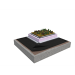 Base SV 2-layer inverted roof system for extensive green roof on concrete insulated with XPS