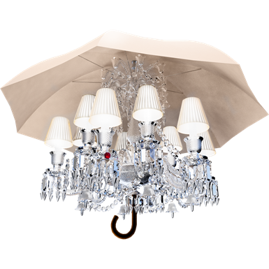 marie coquine chandelier 12l white lampshade