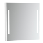 Emma Square Mirror with integrated light. 800x800 mm.