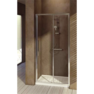 kubo porte de douche 100 cm verre transparent