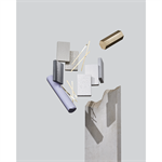 himacs plattenmaterial – aster (galaxy) kollektion