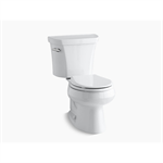 k-3997-0 wellworth® two-piece round-front 1.28 gpf toilet with class five® flush technology and left-hand trip lever