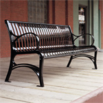 CityView Vertical Strap Backed Benches