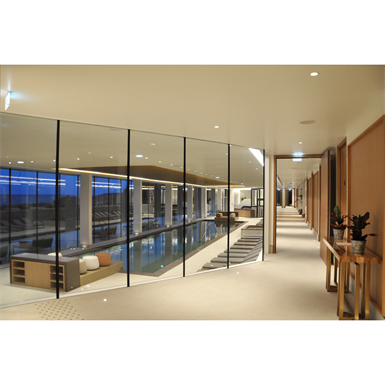 steel edge to edge partition wall