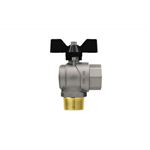 Progress M-F right angle ball valve with butterfly handle