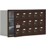 19100 Series Cell Phone Lockers-Recessed Mounted-3 Door High Units-8 Inch Deep Compartments