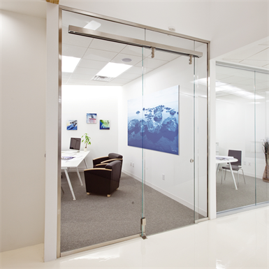 interior glass walls pure® series - slider & transom_r14