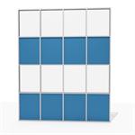 aluminum facade grid - 50% to 75 % transparent