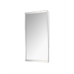 "Accessible Mirror Series Stainless Steel Frame Fixed Tilt Mirror - 16"" x 30"" Surface Mounted"