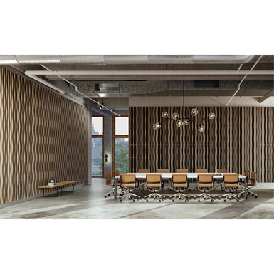 LINEA 3D BAMBOO WAVE Suspended ceiling