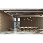 linea 3d bamboo wave plafond