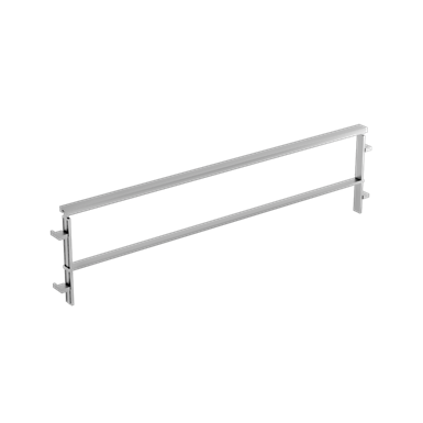 Balustrades one rail on low wall