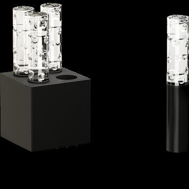 Black round shape cut 4L Jallum candlelight