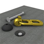 t-lock anchors (support collapsed and hoisting)