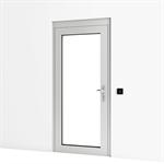 entrance door w/ panic lock and wall reader