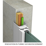 waterproofing joint for doors & windows renovation on timber frame, no unmounting