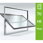 Schüco Window AWS 70.HI, Horizontal and Vertical Pivot Windows