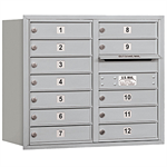3700 Series Recessed Mounted 4C Horizontal Mailboxes - Rear Loading - 7 Door High Units