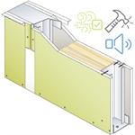 drywall pregymetal 72mm -  anti-voc & robust - ei30 - 43db - siniat