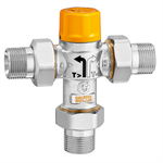 Thermostatic diverter valve for solar thermal systems