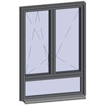 fenêtre à ouvrant caché avec allège