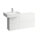 KARTELL BY LAUFEN Vanity unit 1200 mm, washbasin left