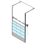 sectional overhead door 601 - pre-assembled high lift - full vision panels