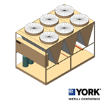 YORK® YLUA Air-cooled Scroll Condensing Unit 80-160 TR (280-560 kW)