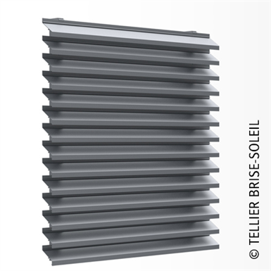 ventilated wall cladding with long slats - façad'ligne range