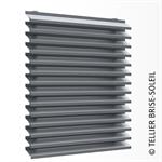 ventilated wall cladding with long slats - façad'ligne range