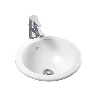 concept sphere 38cm countertop washbasin no tap deck
