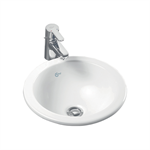 concept sphere 38cm countertop washbasin no tap deck