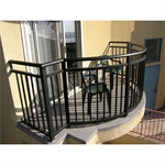 Aluminum Picket Railing, Picket Railing With Top Rail And One Mid-Rail, Plus Bottom Rail