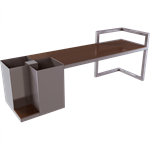 hedera backless bench