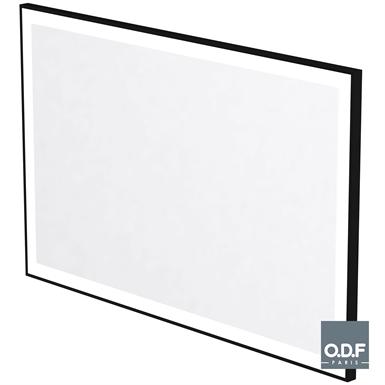 miroir led rétro éclairé encadré dépoli rectangulaire et antibuée 140 x 90cm