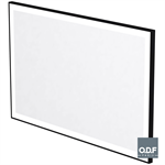 mirror with frame and rectangular led light band and defogger 140 x 90cm
