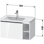 de4258 d-neo vanity unit wall-mounted
