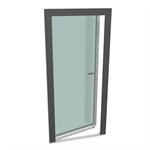 gealan-kubus® single-leaf turn tilt balcony door with threshold