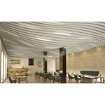 lmd-l laola | metal baffle ceiling in wavelike design
