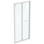 CONNECT 2 B/FOLD 95 UNHAND DOOR IC WHT CLEAR