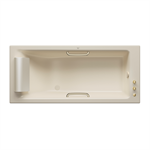 ARMANI - ISLAND Built-in 1800 x 800 mm bathtub with deck-mounted faucet