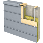 felsysteem gevel (430 mm, horizontaal, prepatina blue-grey)